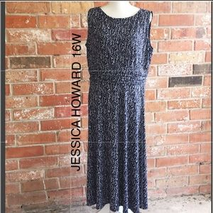 Stretchy Dress By Jessica Howard Plus 16W EUC